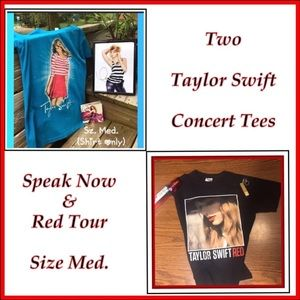 Two Taylor Swift Concert Tees - Sz. Med.